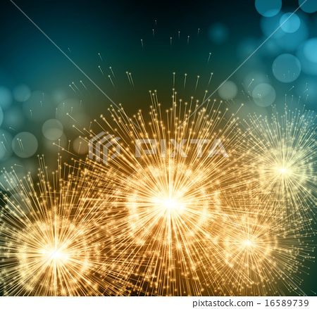 Stock Illustration: Celebrate party sparkler little fireworks. Vector illustration