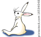 rabbit, ink, brush 16594048