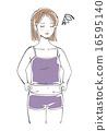 Female illustration 2 grabbing stomach meat 2 16595140