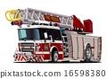 cartoon, vector, truck 16598380