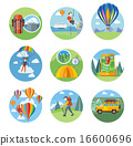 Hike, Expedition, Tourism, Parachuting, Ballooning 16600696