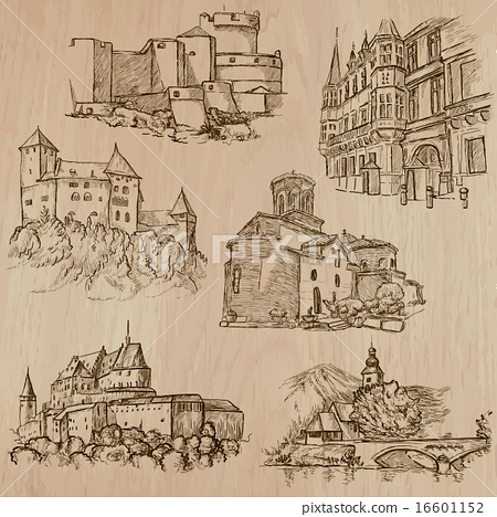 architecture and places - freehand drawings 16601152