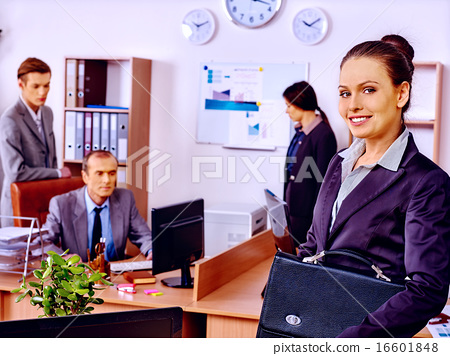 Group business people in office. 16601848
