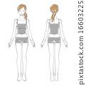 the back, fullbody, woman 16603225
