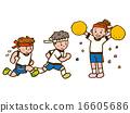 支持兩個男孩在健身房制服的女孩 16605686