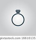 訂婚 鑽石 向量 16610135