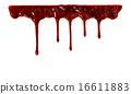 Blood dripping down 16611883