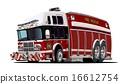 cartoon, vector, truck 16612754
