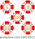 Set of gambling chips rated 16619412