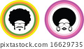 Afro man and woman symbol 16629735