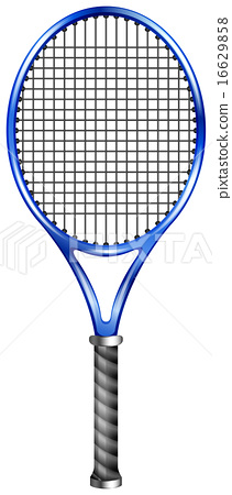 Blue racquet for tennis or squash 16629858