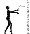Rhythmic Gymnastics teeenager girl woman 16634247