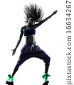 woman zumba dancer dancing exercises silhouette 16634267