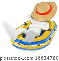 napping, straw, hat 16634780