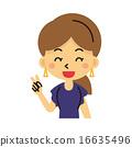 女士 插图 胸 16635496