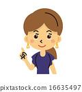 女士 插图 胸 16635497