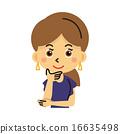 女士 插图 胸 16635498
