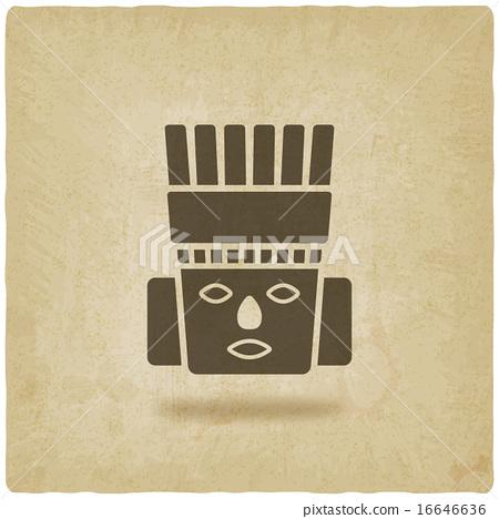 Toltec Warrior head. Mexico ancient culture symbol 16646636
