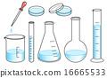 實驗室儀器設置 - 淺藍色 16665533