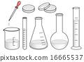 實驗室儀器組 - 灰色 16665537