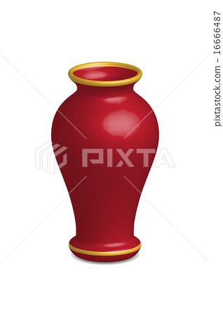 Illustration of empty flower vase, vector isolated 16666487