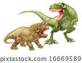 T Rex Versus Triceratops 16669589