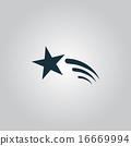 Shooting star vector icon 16669994
