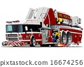 cartoon, vector, truck 16674256