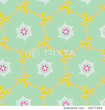 Cute abstract neon feminine pattern for textiles 16675889