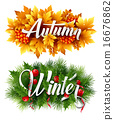 vector, winter, typographic 16676862