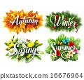 vector, typographic, seasons 16676964