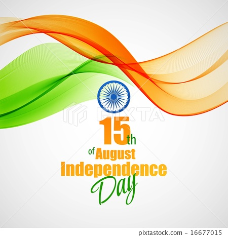 Creative Indian Independence Day concept. Vector illustration 16677015