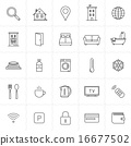 Accommodation booking icon set 16677502