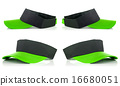 Green tennis cap 16680051