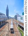 市中心 電氣列車 火車 16682765