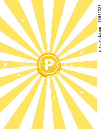 Point coin, yellow concentrated line back, vertical position 16686528