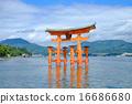 히로시마 미야지마 세계 유산 이쓰 쿠시마 신사 16686680