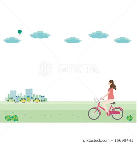 自行車例證街道 16698443