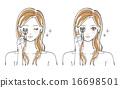 化妆 夫人 雌 16698501