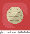 Flat modern design with shadow icon Ball for fitness 16702920