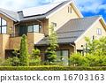 Eco房子和绿色和天空 16703163