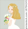 woman, wedding, bouquet 16704245