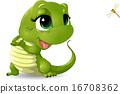蜥蜴 动物 绿色 16708362