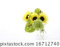 해바라기와 안스리움과 카네이션의 어레인지 (가로 전체 유리 제품) 16712740