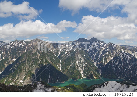 Lake Kurobe and Akazakari (Akazawa only) · Ninomiyaki dake (Norinokodake) Chubu Mountain National Park · North Alps Tateyama mountain range 16715924