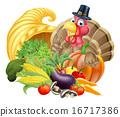 turkey, thanksgiving, basket 16717386