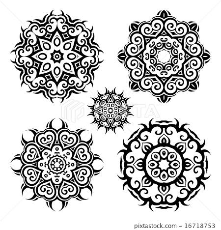 Mandala.Vintage pattern set. - Stock Illustration [16718753] - PIXTA