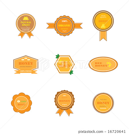 set of labels for honey products 16720641