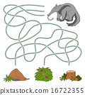 Maze game for children (anteater and anthill) 16722355