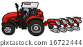 Tractor with a plow 16722444